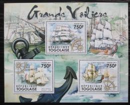 Poštovní známky Togo 2012 Historické plachetnice Mi# 4333-35 Kat 9€