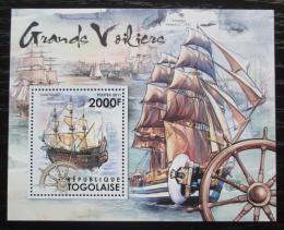Poštovní známka Togo 2012 Historické plachetnice Mi# Block 680 Kat 8€