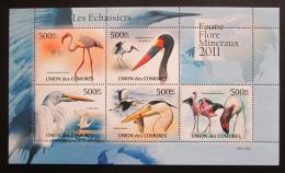 Poštovní známky Komory 2011 Velcí vodní ptáci Mi# 3023-27 Bogen Kat 12€