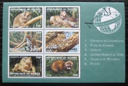 Poštovní známky Guinea 1998 Ohrožená fauna Mi# 2048-53 Kat 23€