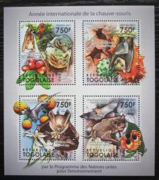 Poštovní známky Togo 2011 Netopýøi Mi# 4059-62 Kat 12€