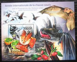 Poštovní známka Togo 2011 Netopýøi Mi# Block 622 Kat 12€