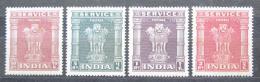 Poštovní známky Indie 1950 Pilíø Asoka, služební Mi# 127-30 Kat 13.50€