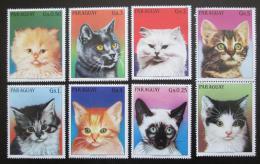 Poštovní známky Paraguay 1984 Koèky s kupónem Mi# 3811-17