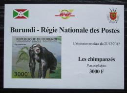 Poštovní známka Burundi 2012 Šimpanzi neperf. DELUXE Mi# 2856 B Block
