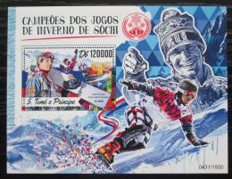 Poštovní známka Svatý Tomáš 2016 ZOH Soèi Mi# Block 1248 Kat 12€