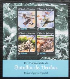 Poštovní známky Svatý Tomáš 2016 Bitva u Verdunu, 100. výroèí Mi# 6536-39 Kat 12€