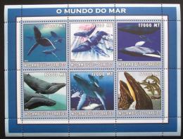 Poštovní známky Mosambik 2002 Velryby Mi# 2680-85 Kat 12€