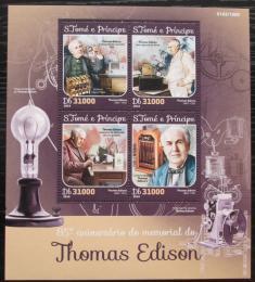 Poštovní známky Svatý Tomáš 2016 Thomas Edison Mi# 6546-49 Kat 12€