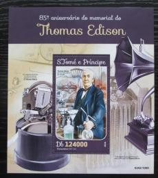 Poštovní známka Svatý Tomáš 2016 Thomas Edison Mi# Block 1159 Kat 12€