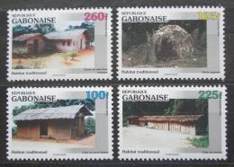 Poštovní známky Gabon 1996 Tradièní bydlení Mi# 1335-38