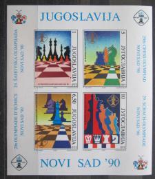 Poštovní známky Jugoslávie 1990 Šachová olympiáda neperf. Mi# Block 39 Kat 9€