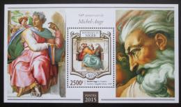 Poštovní známka Niger 2015 Umìní, Michelangelo Mi# Block 407 Kat 10€