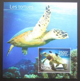 Poštovní známka Niger 2014 Želvy Mi# Block 381 Kat 10€