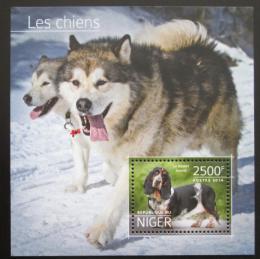 Poštovní známka Niger 2014 Psi Mi# Block 385 Kat 10€