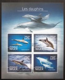 Poštovní známky Niger 2014 Delfíni Mi# 3214-17 Kat 12€