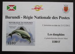 Poštovní známka Burundi 2011 Delfíni neperf. DELUXE Mi# 2843 B Block