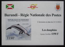 Poštovní známka Burundi 2011 Delfíni neperf. DELUXE Mi# 2844 B Block