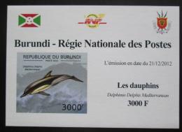 Poštovní známka Burundi 2011 Delfíni neperf. DELUXE Mi# 2845 B Block