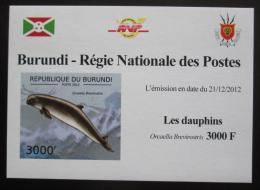 Poštovní známka Burundi 2011 Delfíni neperf. DELUXE Mi# 2846 B Block
