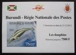 Poštovní známka Burundi 2011 Delfíni neperf. DELUXE Mi# 2847 B Block