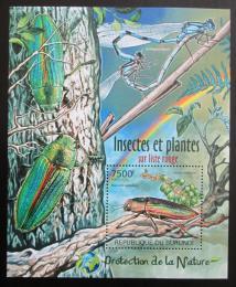 Poštovní známka Burundi 2012 Brouci Mi# Block 231 Kat 9€
