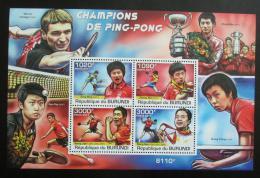 Poštovní známky Burundi 2011 Stolní tenis Mi# Block 177 Kat 9.50€