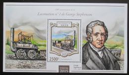 Poštovní známka Niger 2015 Staré parní lokomotivy Mi# Block 410 Kat 10€