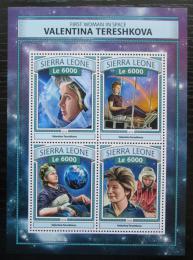 Poštovní známky Sierra Leone 2016 Valentina Tìreškovová Mi# 7898-7901 Kat 11€