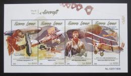 Poštovní známky Sierra Leone 2015 Historická letadla Mi# 6667-70 Kat 11€
