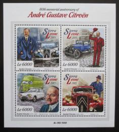 Poštovní známky Sierra Leone 2015 Automobily Citroen Mi# 6778-81 Kat 11€