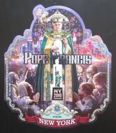 Poštovní známka Sierra Leone 2016 Papež František v New Yorku Mi# Block 915
