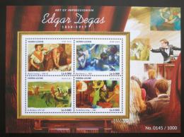 Poštovní známky Sierra Leone 2015 Umìní, Edgar Degas Mi# 6420-23 Kat 11€