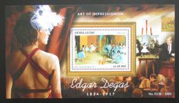 Poštovní známka Sierra Leone 2015 Umìní, Edgar Degas Mi# Block 817 Kat 11€