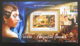 Poštovní známka Sierra Leone 2015 Umìní, Renoir Mi# Block 823 Kat 11€