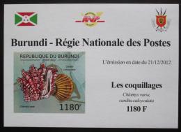 Poštovní známka Burundi 2012 Mušle neperf. DELUXE Mi# 2753 B Block