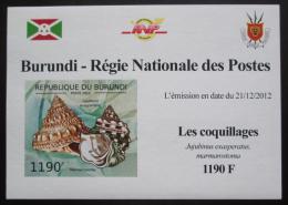 Poštovní známka Burundi 2012 Mušle neperf. DELUXE Mi# 2754 B Block