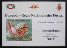 Poštovní známka Burundi 2012 Mušle neperf. DELUXE Mi# 2755 B Block