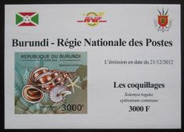 Poštovní známka Burundi 2012 Mušle neperf. DELUXE Mi# 2756 B Block