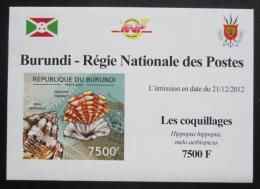 Poštovní známka Burundi 2012 Mušle neperf. DELUXE Mi# 2757 B Block