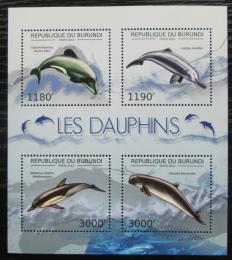 Poštovní známky Burundi 2012 Delfíni Mi# 2843-46 Kat 10€