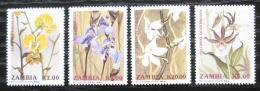 Poštovní známky Zambie 1992 Orchideje Mi# 595-98 Kat 7.50€