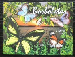 Poštovní známka Guinea-Bissau 2011 Motýli Mi# Block 916 Kat 12€