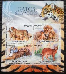 Poštovní známky Guinea-Bissau 2012 Koèkovité šelmy Mi# 6087-90 Kat 11€