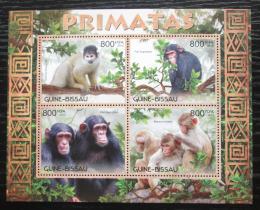Poštovní známky Guinea-Bissau 2012 Opice Mi# 6231-34 Kat 13€