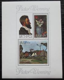 Poštovní známky JAR 1980 Umìní, Pieter Wenning Mi# Block 9