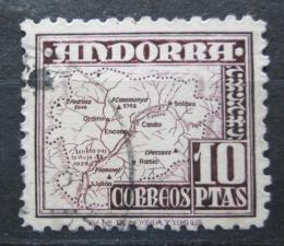 Poštovní známka Andorra Šp. 1951 Mapa Mi# 57 Kat 25€