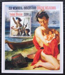 Poštovní známka Guinea-Bissau 2013 Umìní, Delacroix Mi# Block 1218 Kat 8.50€