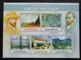 Poštovní známky Guinea-Bissau 2013 Umìní, Vincent van Gogh Mi# 6602-06 Kat 13€