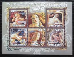Poštovní známky Guinea-Bissau 2010 Umìní, Sandro Botticelli Mi# 5140-44 Kat 12€